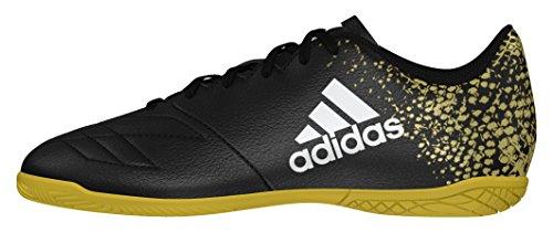 adidas X 16.4 IN J, Botas De Fútbol Niños Negro (Core Black/Core Black/Gold Metallic)