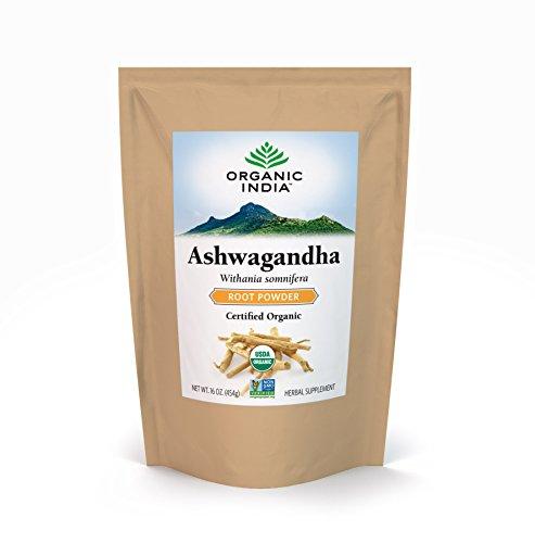 Organic India Bulk Herb Ashwagandha Root Powder, 1 Pound by ORGANIC INDIA