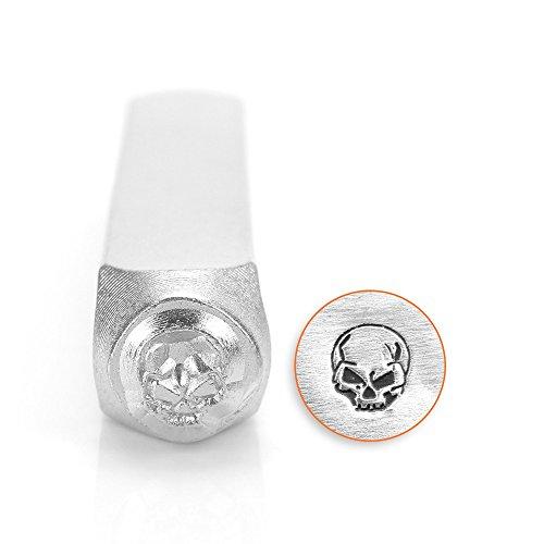 ImpressArt- 6mm, Angry Skull Design Stamp (Skull Stamp)
