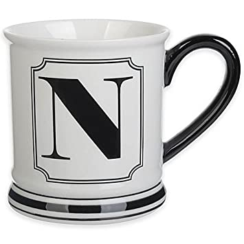 amazon com formations block letter n monogram mug by unknown