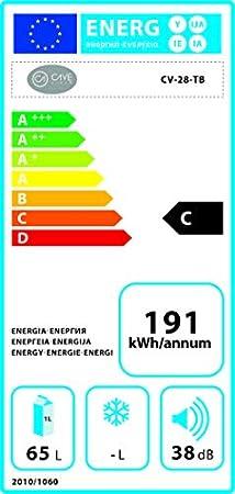 Vinoteca negra Termoelectrica 28 botellas CV-28TB[Clase de eficiencia energética C]