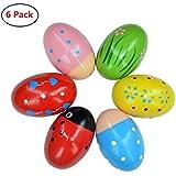Bondream Set of 6 Lovely Pattern Egg Shaker Set Percussion Musical Maracas Eggs Child Kids Toys