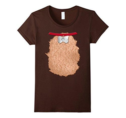 Cute Costumes Ideas For Women Diy (Womens Christmas Dog Halloween Costume DIY Shirt | Gift Idea Medium Brown)