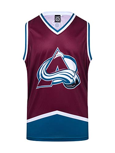 NHL Mens Hockey Tank (Colorado Avalanche-Away, Large) (Colorado Hockey)