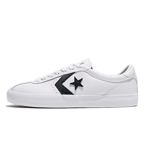 Converse Mens Breakpoint Ox White Black Leather Trainers 9.5 US
