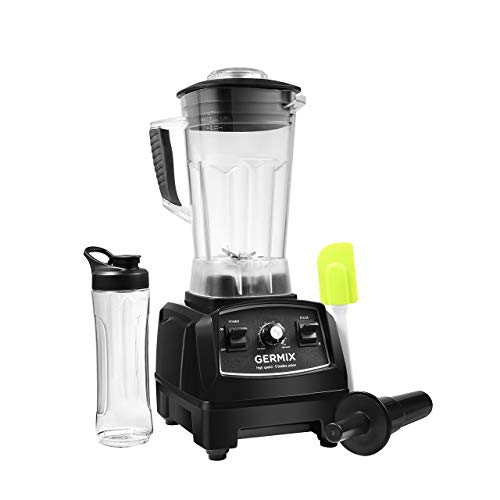 Blender, 64oz Countertop Blender for Shakes and Smoothies Making, 1500-Watt Base, Professional Electric Food Blender with 8 Blades & 10 Speeds & One Touch Cleaning,Germix