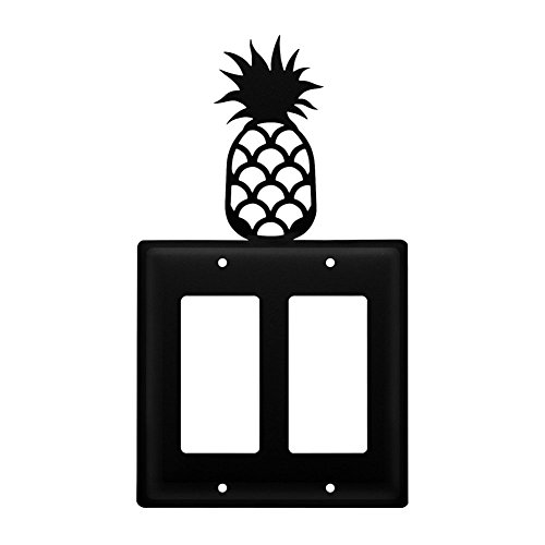 Iron Pineapple Double Modern Switch Cover - Heavy Duty Metal Light Switch Cover, Electrical Outlet Covers, Lightswitch Covers, Wall Plate Cover