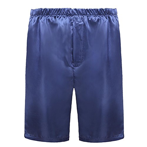 Avidlove Men Underwear Home Boxers Shorts Satin Dark Blue S