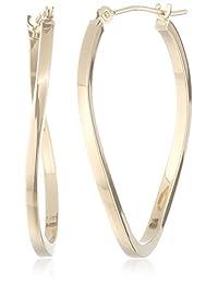 10k Yellow Gold Polished Slow Twist Hoop Earrings