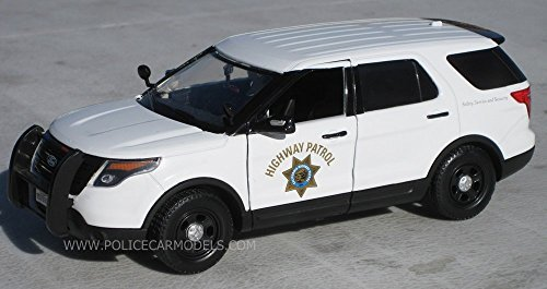 Motormax 1/24 CHP California Highway Patrol White Ford PI Utility Police SUV