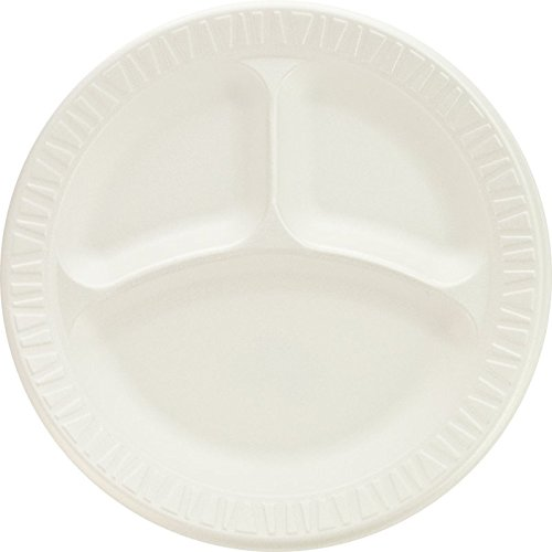 SOLO 9CPWCR Non-Laminated Foam Plate, Compartmented, 9