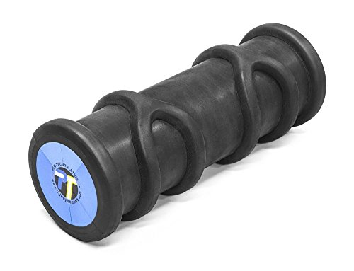 Pro-Tec Athletics Y-Roller High Density Contoured Foam Roller, Solid Core Blue/ Black