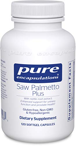 Pure Encapsulations - Saw Palmetto Plus with Nettle Root Extract - Hypoallergenic Supplement with Support for Prostate Health and Functioning* - 120 Softgel Capsules