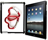 Rikki Knight? Metal Link Hearts Design Black Snap on Protective Case for Apple iPad? 2 - The New iPad (3rd Generation) - iPad 4