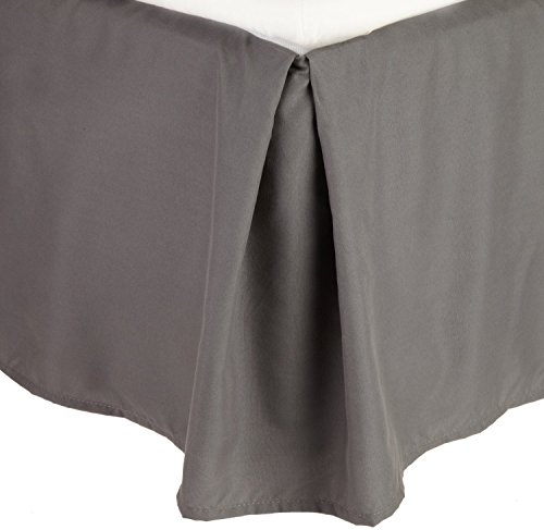 Elegant Comfort® 100 GSM Bed Skirt/ Dust Ruffles WRINKLE-FREE Egyptian Quality SOLID - Pleated Tailored 14