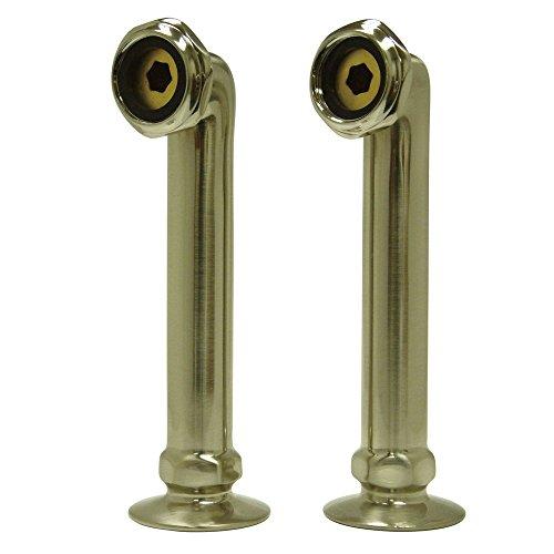 (Kingston Brass CC6RS8 Vintage Deck Mount Riser for Leg Tub Filler, 6-Inch, Brushed)