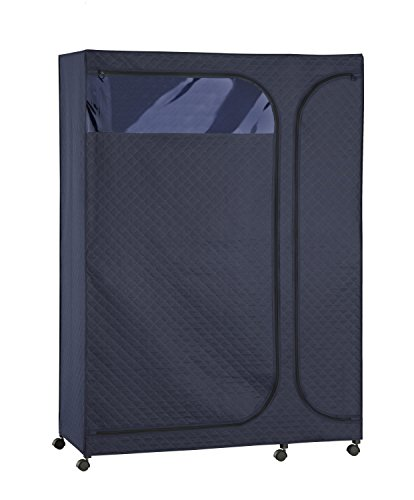 Organize It All 54267W1P Portable Wardrobe Storage Closet with Heavy Duty Zippering 2-Door Fabric Cover from Organize It All