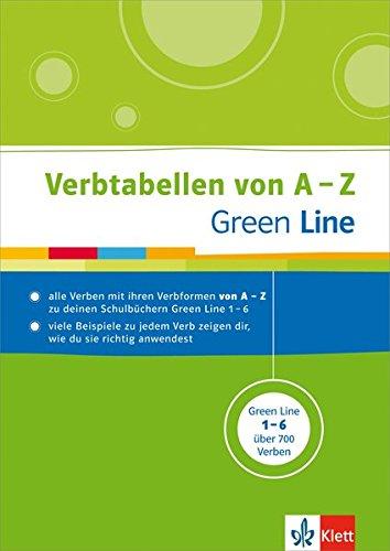 Green Line - Verbtabellen von A - Z: Verbformen nachschlagen - passend zum Schulbuch