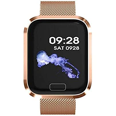 LIXXEZ Smart Wristband Heart Rate And Blood Pressure Sports Pedometer Bracelet Waterproof smart wristband Color Gold Estimated Price -