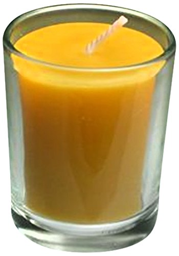 Honey Candles Clear Glass Votive Cup-Set of 6, 6 Piece (Oil Glass Unity Candle)