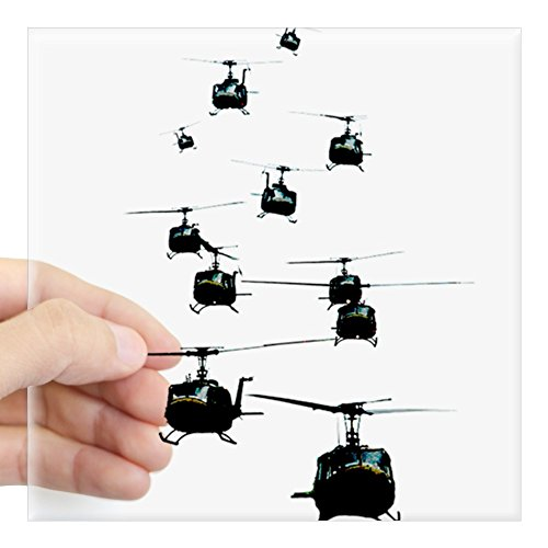 CafePress - Huey Helicopters Sticker - Square Bumper Sticker Car Decal, 3