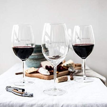YourSurprise Copa de Vino Tinto Personalizada - Copa de Vino Tinto con Nombre Grabado: Personalizable con Texto, diseños y Diferentes Tipos de Letras (2)