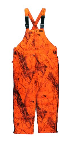 Blaze Orange Camo Bib (Naked North Blaze Orange Camo, 3X-Large) ()