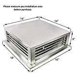 """GSW 24"""" Stainless Steel 4-Way Adjustable Air"""