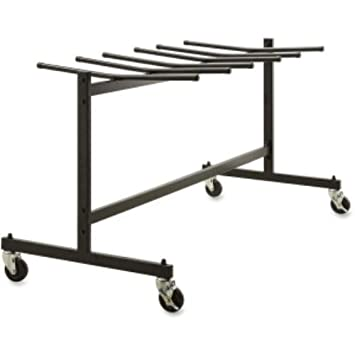 Amazoncom Lorell Folding Chair Trolley Black Kitchen Dining