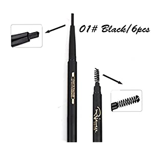 Eyebrow Pencil with Brow Brush by Rejawece - Waterproof Automatic Eyebrow Makeup Kit Brushes Cosmetic Tool- a set of 12pcs with 3 colors
