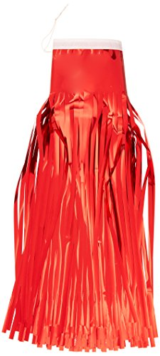 Pkgd 1-Ply FR Metallic Fringe Drape (red) Party Accessory  (1 count) (1/Pkg) by Beistle