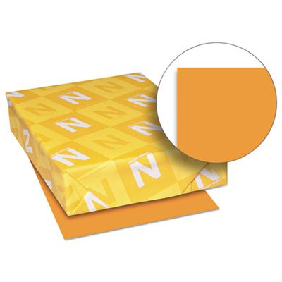 Exact Brights Paper, 8 1/2 x 11, Bright Orange, 50 lb, 500 Sheets/Ream, Sold as 1 Ream, 500 per Ream