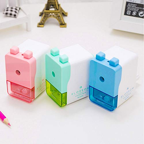 RanMory31 Manual Pencil Sharpener Pencil Sharpener Manual Pencil Sharpener Mechanical Colorful Double Button Stationery Office & School Supplies