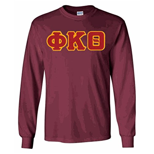 Phi Kappa Theta Lettered Long Sleeve Medium Maroon