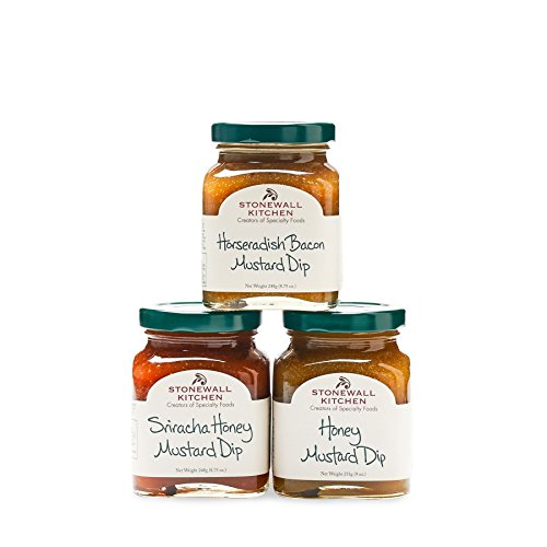 Stonewall Kitchen Our Dipping Mustard Collection (3pc) Honey Mustard Sausages
