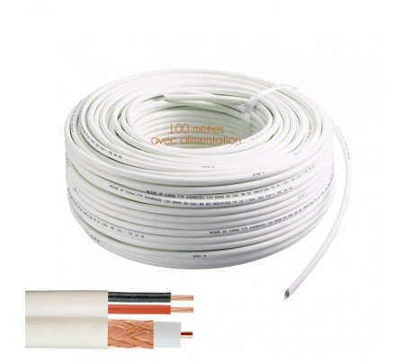 Video surveillance Direct - Cable coaxial RG-59 + alimentación 100 ...