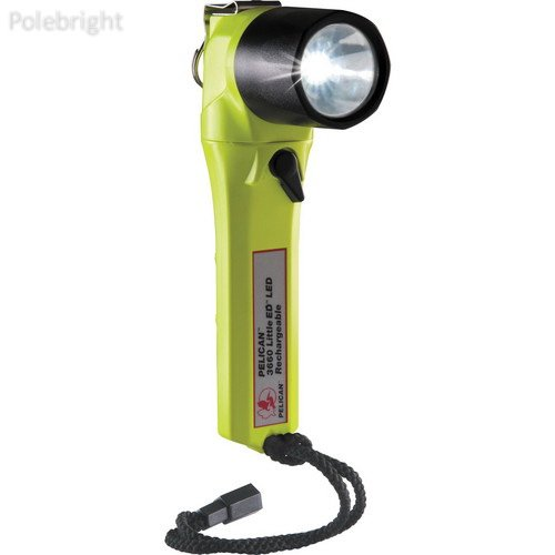 3660 Little ED Rechargeable LED Flashlight (Yellow, without Charger)- Polebright Update