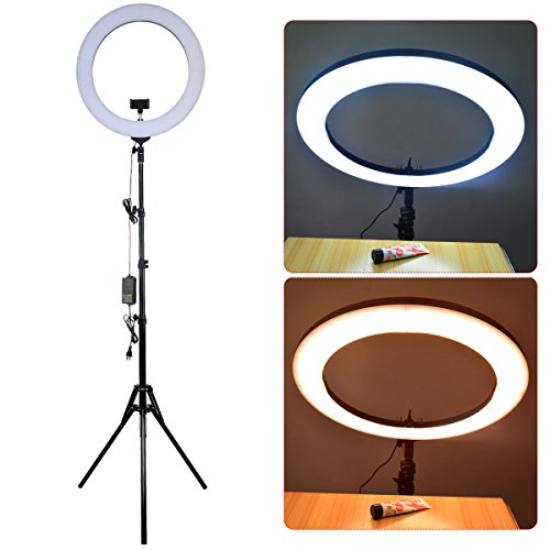 18-inch Dimmable SMD LED Ring Light Kit with Stand, Nydotd A