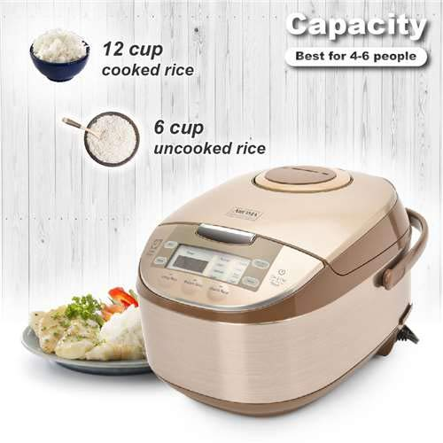 Aroma Housewares ARC-6106 Aroma Professional 6 Cups Uncooked Rice, Slow Cooker, Food Steamer, MultiCooker, Classic 12, Silver by Aroma Housewares (Image #2)