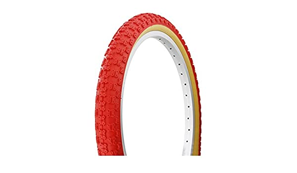 """BICYCLE 2 TIRES 2 TUBES 20/"""" X 1.75 ALL RED GUM WALL CRUISER BMX BIKES"""