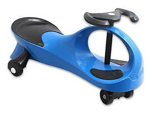 Blue Twistcar Roller Twist Car Kids Ride On Wiggle Outdoor Play Swing Vehicle