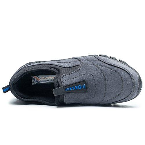 con Uomo Cricket Fashion Tacco Sneaker Outdoor Uomo da Scarpe Sportive on Piatto Casual Grigio da da Scarpe Slip xaqtpqBw