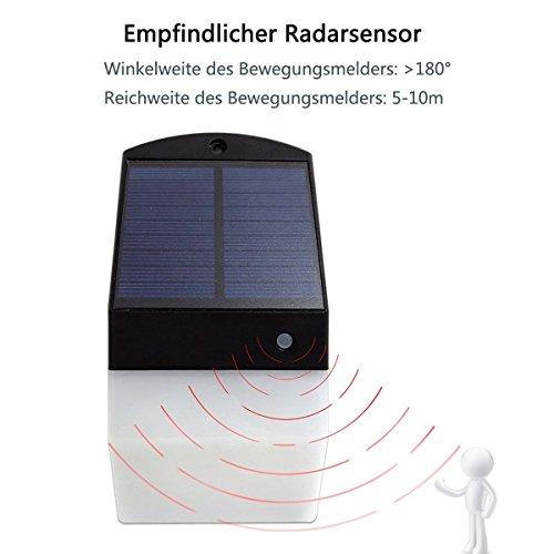 Lámpara solar led de pared con sensor de movimiento, lámpara exterior, 1816B: Amazon.es: Iluminación