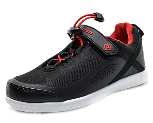 DREAM PAIRS Little Kid 160507-K Black Red Athletic Running Shoes Sneakers - 11 M US Little Kid -
