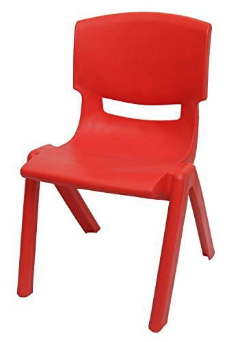Superior Intra Kids Strong And Durable Kids Plastic Chair (Small , Red)