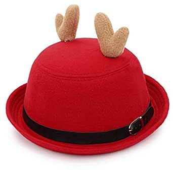 Red & Black Bowler & Derby Hat For Women