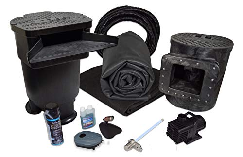 Savio Signature 3000 with UV Complete Water Garden and Pond Kit, with 10 x 10 Foot EPDM Rubber Liner