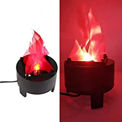 Led Fake Flame Lamp 3D Flickering Fire F...