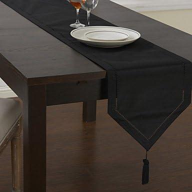Classic Black Camino de mesa, negro, 30cm x 240cm: Amazon.es: Hogar