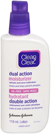 Clean & Clear Face Moisturizer With Salicylic Acid Acne Medication, Oil-Free, 11